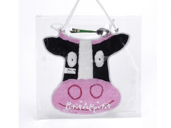 Babyset (Latz und Löffel) Kuh von Petit Appetit