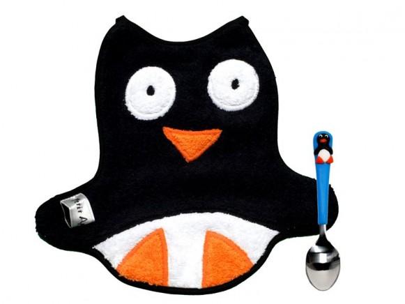 Babyset (Latz und Löffel) Pinguin von Petit Appetit