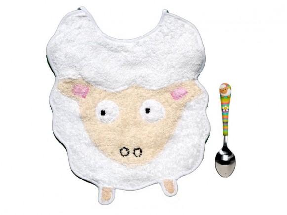 Babyset (Latz und Löffel) Schaf von Petit Appetit