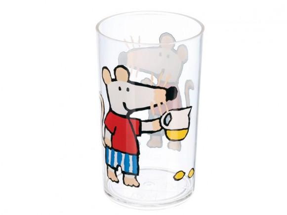 Trinkglas Mausi aus stabilem Acryl von Petit Jour