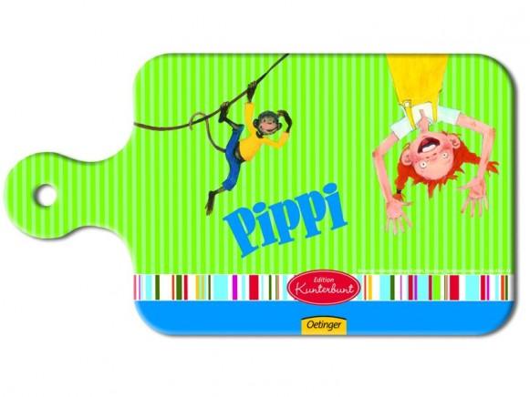 Pippi Langstrumpf Frühstücksbrettchen in grün