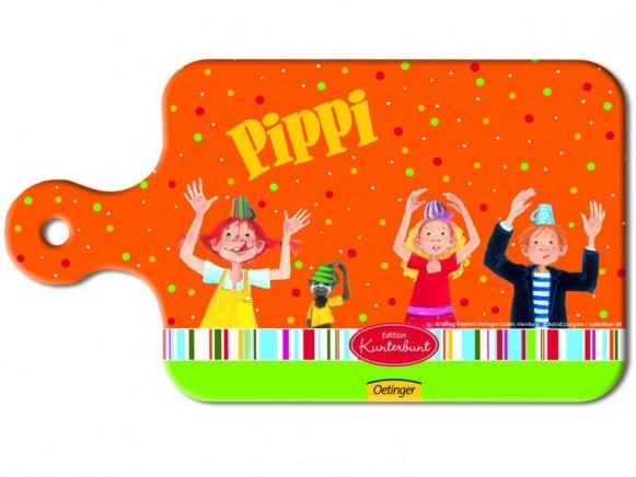 Pippi Langstrumpf Frühstücksbrettchen in orange