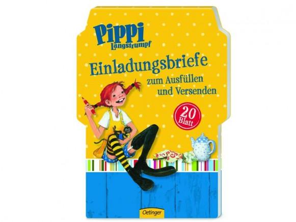 Pippi Langstrumpf Einladungskarten
