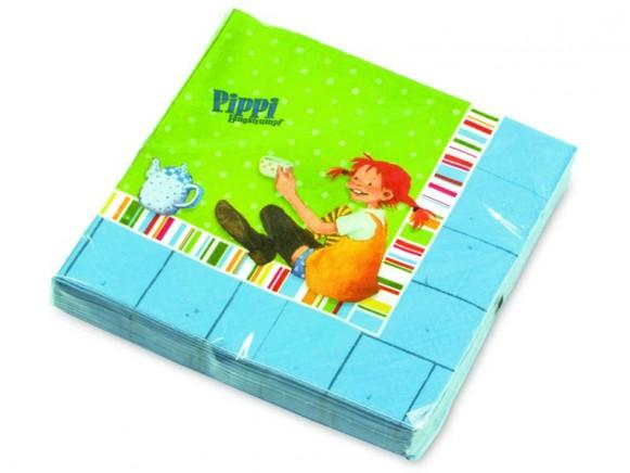 Pippi Langstrumpf Servietten