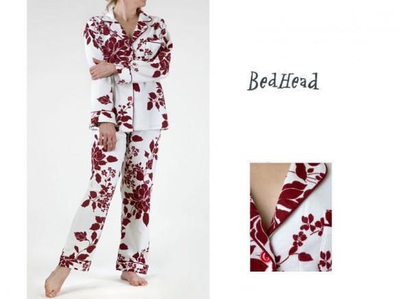Pyjama Set Poinsettia Flanell Classic von BedHead
