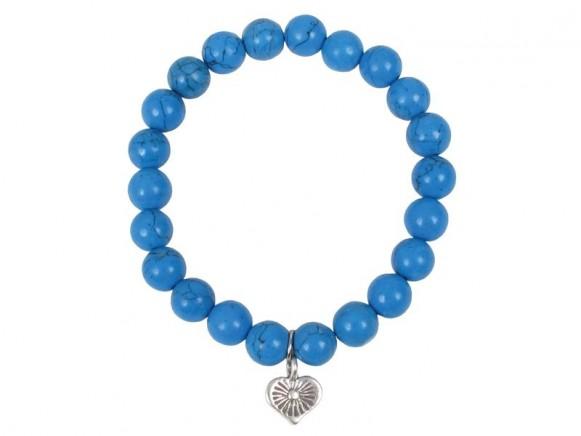 Armband mit blauen Steinen und Anhänger von RICE