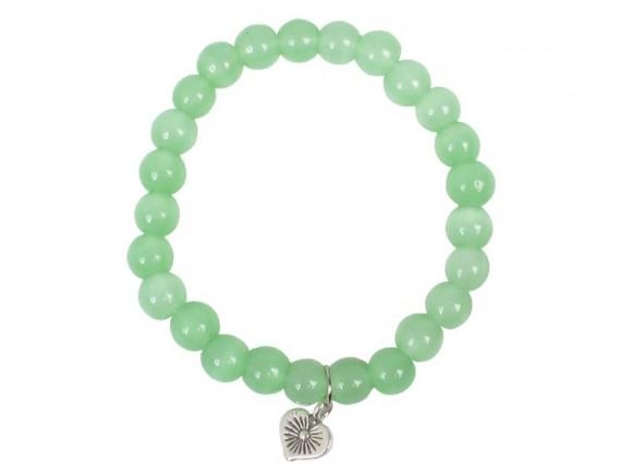 Armband mit grünen Steinen und Anhänger von RICE
