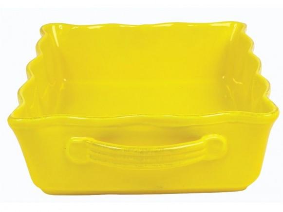 Große gelbe Auflaufform im Toskana-Stil von RICE
