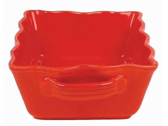 Mittelgroße rote Auflaufform im Toskana-Stil von RICE (B-Ware)