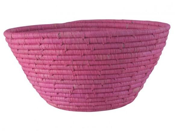 RICE Brotkorb Bast rosa
