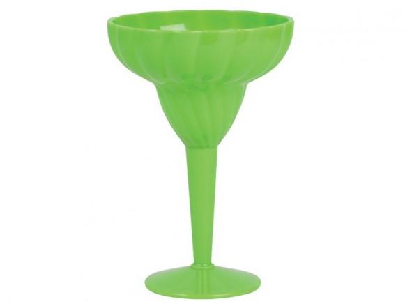 Stabiles Cocktailglas aus grünem Kunststoff von RICE