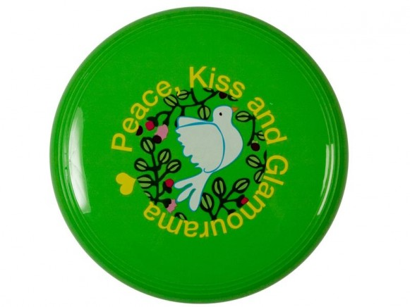 Frisbee mit grünem Taubenmotiv von RICE Dänemark