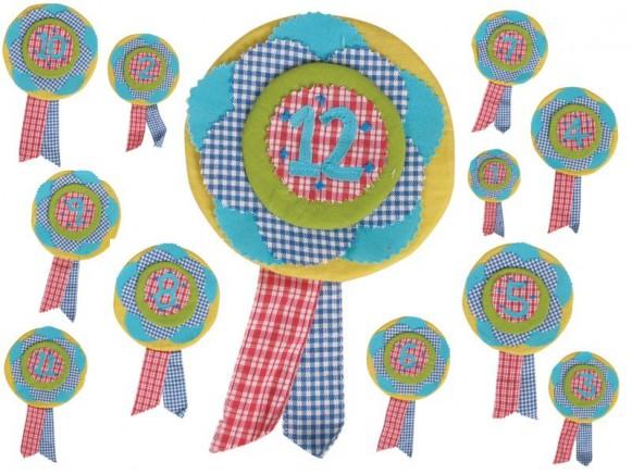 Geburtstagsorden mit Zahl für Mädchen von RICE