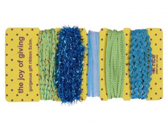 Geschenkband in Blau-Tönen von RICE Dänemark
