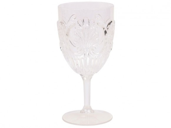 RICE Weinglas aus klarem Acryl