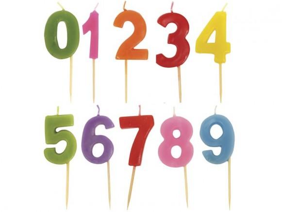 Geburtstagskerzen Zahl von RICE