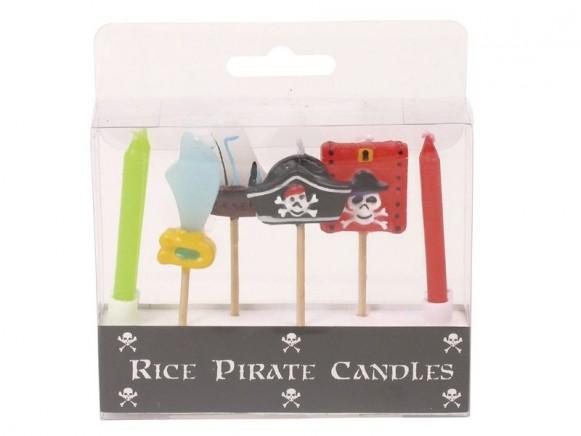 Kleine Kuchenkerzen mit Piratenmotiven von RICE Dänemark