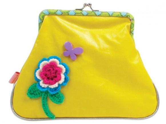 Kosmetiktasche aus gelbem Kunstleder von RICE