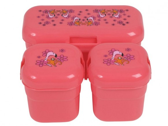 Frühstücksbox mit Flamingo-Motiv von RICE (3er Set)