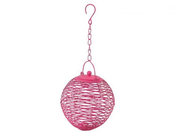 Vogelfutterkugel in pink von RICE