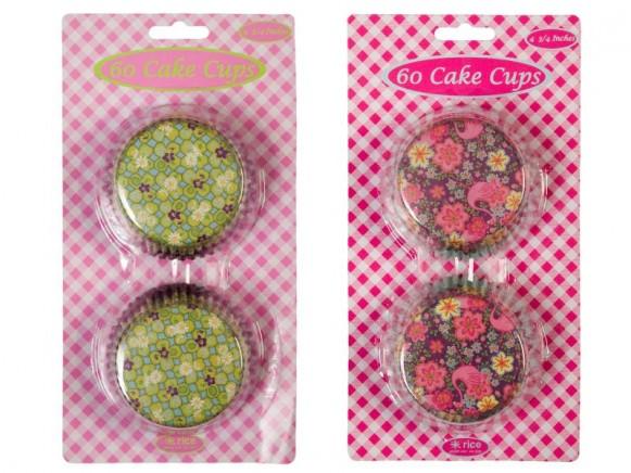 Muffinformen mit Flamingo- und Kleemotiven von RICE
