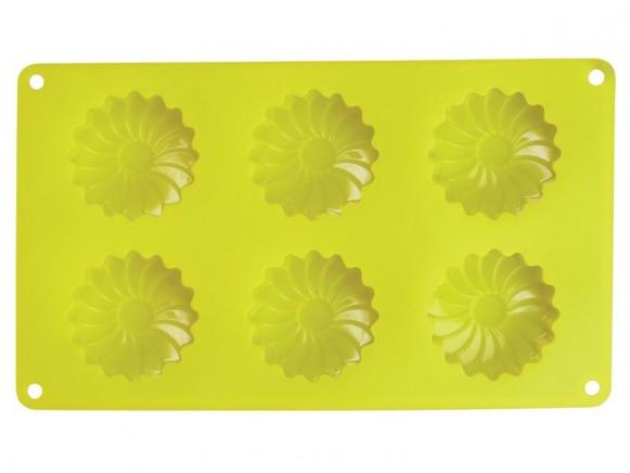 Muffinform aus Silikon in Gänseblümchen-Form von RICE (gelb)