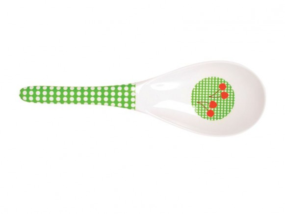 Salatlöffel mit grünem Muster von RICE