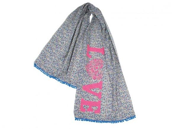 Schal mit Love-Schriftzug von RICE