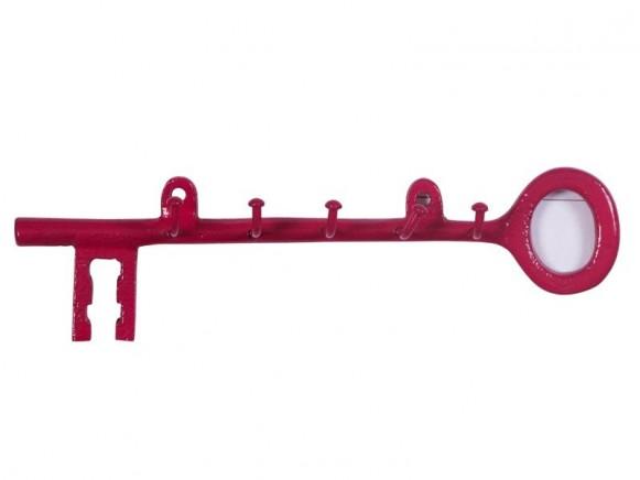 Schlüsselhalter aus Metall in fuchsia von RICE Dänemark