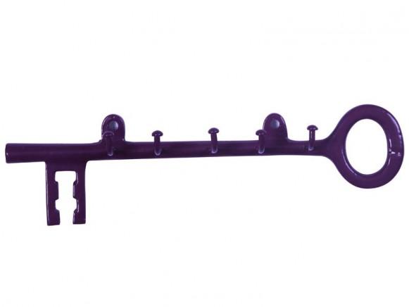 Schlüsselhalter aus Metall in violett von RICE Dänemark