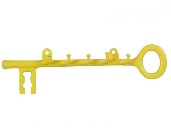 Schlüsselhalter aus Metall in gelb von RICE Dänemark