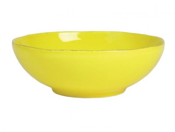 Gelbe Salatschüssel im Toskana-Stil von RICE