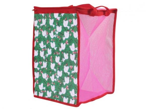 Netzkorb für Spielzeug oder Wäsche mit Taubenmotiv von RICE