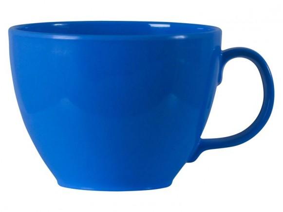 Jumbotasse in blau aus Melamin von RICE