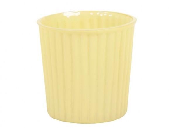 Dekoratives Glas für Teelichter in gelb von RICE