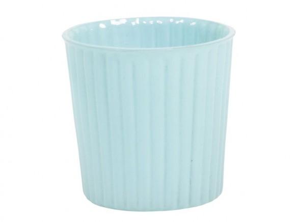 Dekoratives Glas für Teelichter in hellblau von RICE