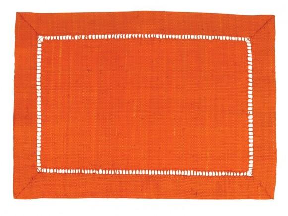 Tischset aus orangefarbenem Bast von RICE