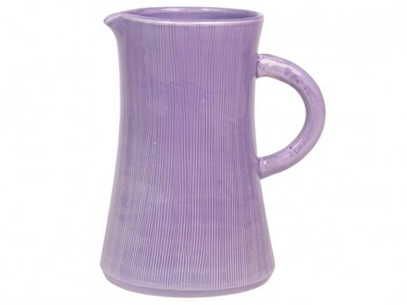 Grosser lavendelfarbener Keramik-Krug im Toskana-Stil von RICE