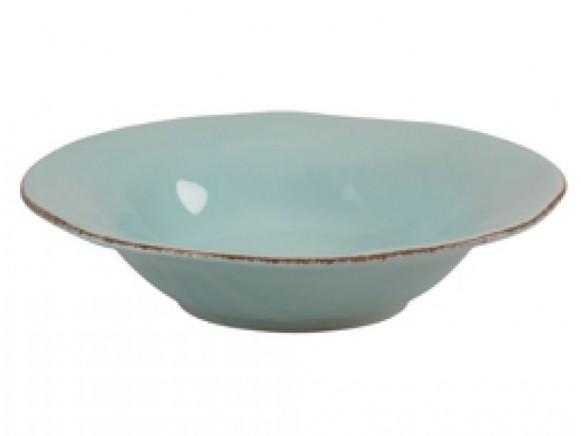 Mintfarbene Pasta-/Suppenschüssel im Toskana-Stil von RICE
