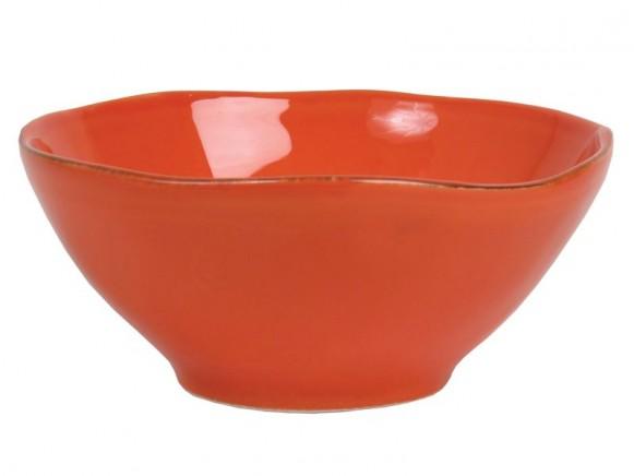 Orangefarbene Tonschüssel im Toskana-Stil von RICE