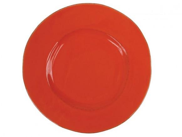 Grosser orangefarbener Teller im Toskana-Stil von RICE