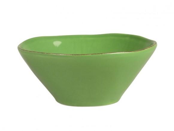 Kleine apfelgrüne Tonschüssel im Toskana-Stil von RICE