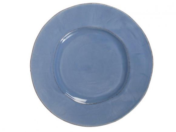 Grosser dunstblauer Teller im Toskana-Stil von RICE Dänemark