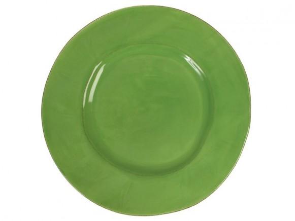 Grosser apfelgrüner Teller im Toskana-Stil von RICE