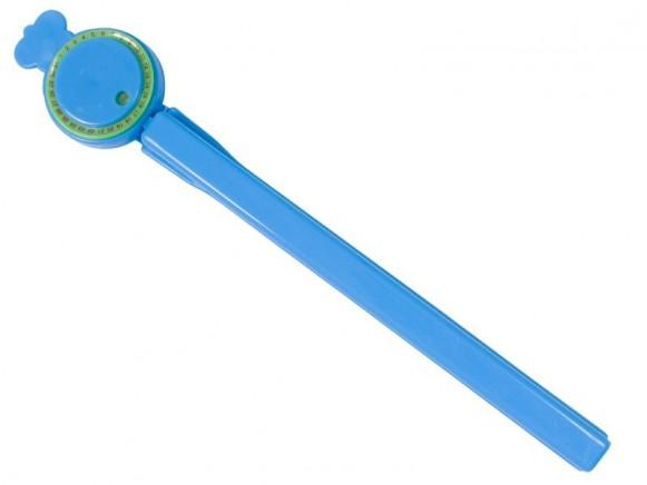 Gefrierbeutelclip mit Datumsanzeige in blau von RICE