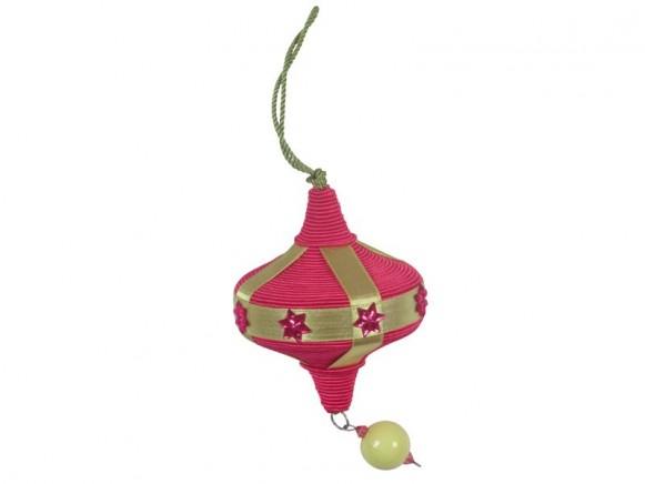 Weihnachtsschmuck in Lampionform in fuchsia von RICE
