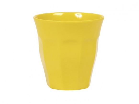 Kleiner RICE Becher aus Melamin in gelb