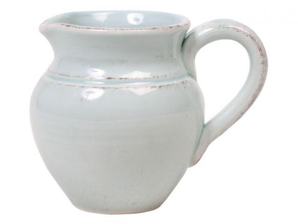 Mintfarbenes Milchkännchen im Toskana-Stil von RICE