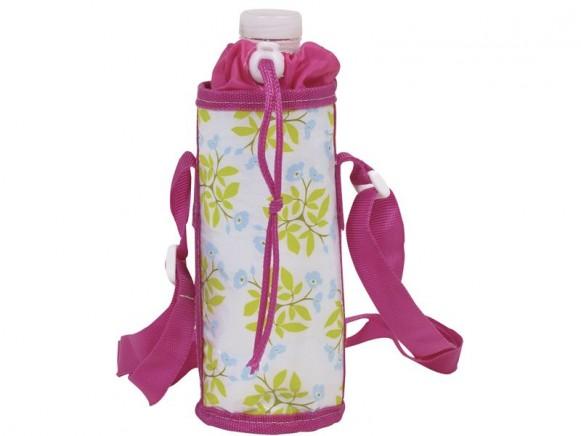 RICE Kühltasche für 1/2-Liter-Flaschen (helles Blumenmuster)