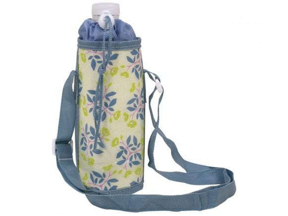 RICE Kühltasche für 1/2-Liter-Flaschen (dunkles Blumenmuster)